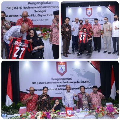 Rakyat Papua Bangga, Rachmawati Soekarnoputri Jabat Ketua Dewan Pembina Persipura